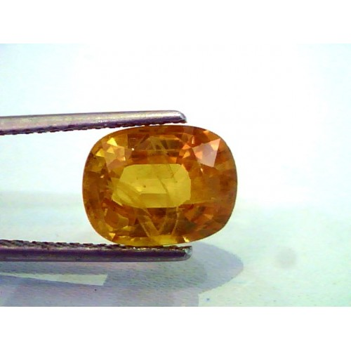 6.11 Ct Natural Premium Bangkok Yellow Sapphire/Pukhraj Heated